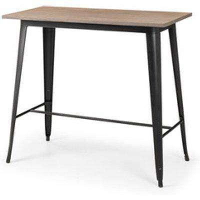 Grafton Bar Table - Mocha Elm/Black