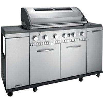 Grill Chef Premium 6.1 Gas Barbecue 12120 - Silver