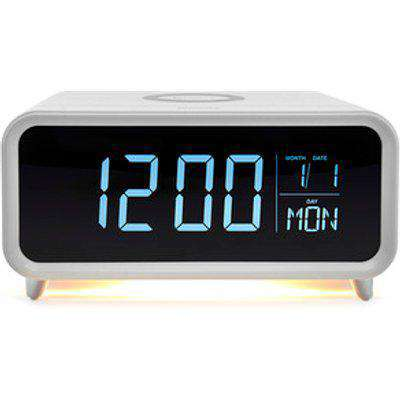 Groove Athena Alarm Clock with Wireless Charging Pad and Night Light White - White