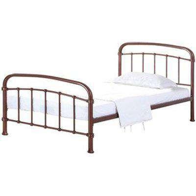 Halston Metal Frame Bed - Copper / Single