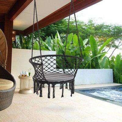 Hammock Chair Cotton Rope - Grey
