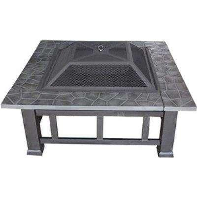 HEATSURE Firepit Outdoor Garden Patio Heater - Black