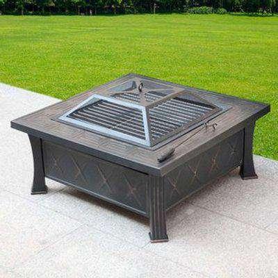 HEATSURE Outdoor Multifunctional Fire Pit Patio Heater - Black