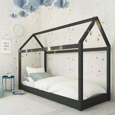 Hickory Contemporary House Bed - Black