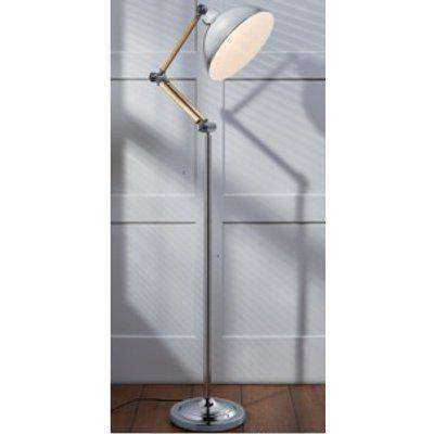 Holme Angled Floor Lamp - Silver