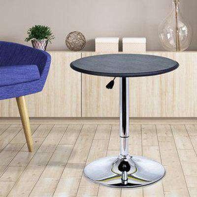 HOMCOM Adjustable Round Bistro Bar Table - Silver