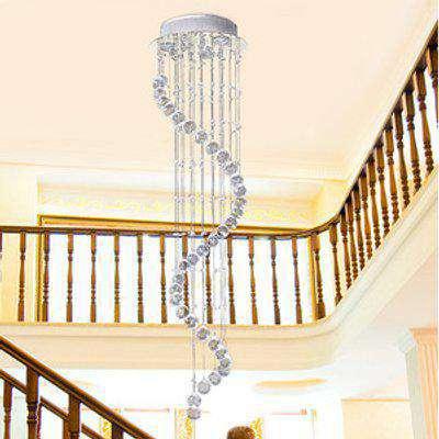 HOMCOM Crystal Chandelier Ceiling Light