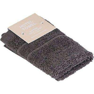 Hotel Face Cloth - Dark Grey
