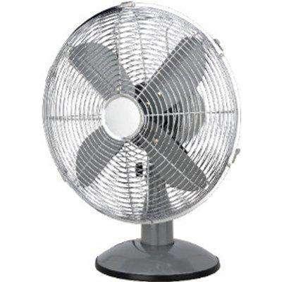 """12"""" Icycool Metal Desk Fan - Grey"""