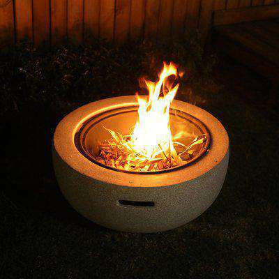 Imitated Cement BBQ Barbecue Fire Pits Outdoor Garden Heater Brazier - Grey / 64.5cm / 48.5cm