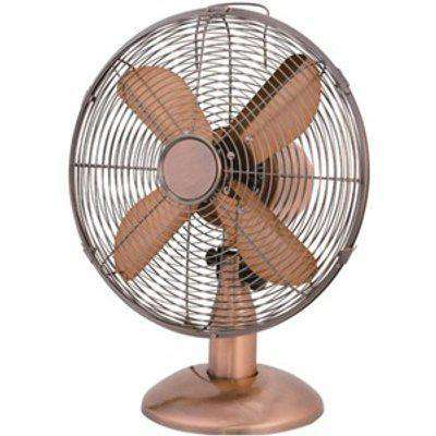 10 Inch Copper Effect Desk Fan - Copper