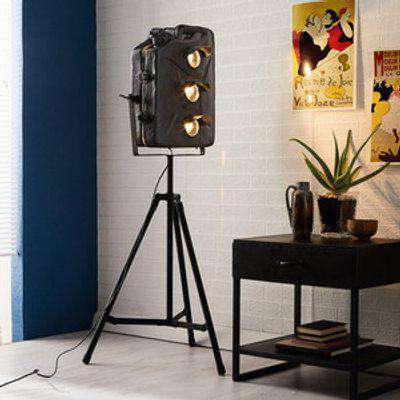 Industrial Style Iron Jerry Can Floor Lamp - Black