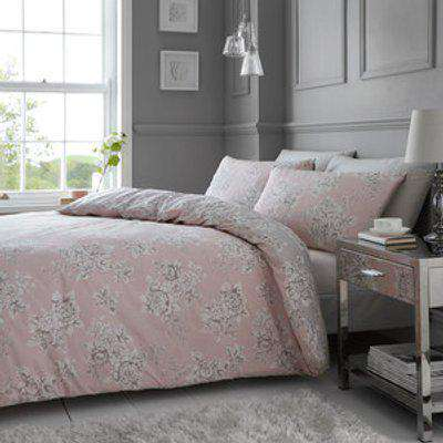 Isabella Duvet Cover and Pillowcase Set - Blush / Double