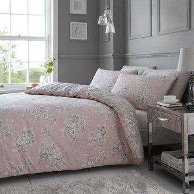 Isabella Duvet Cover and Pillowcase Set - Blush / King