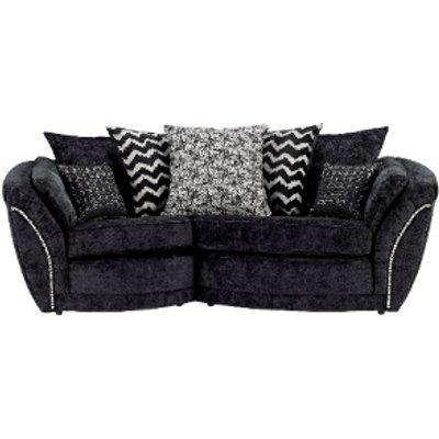 Izzy Snuggle Right Hand Facing Sofa  - Black