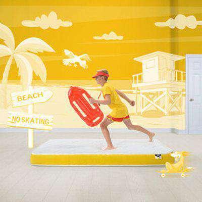 Jay-Be Simply Kids Foam Free e-Pocket® Sprung Mattress - Yellow / Single