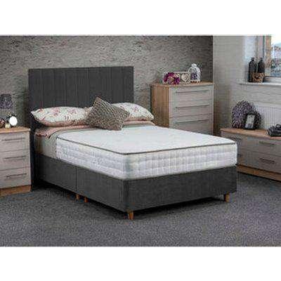 Jonas & James Osbourne Non Storage Divan Bed With Mattress - Steel / Double