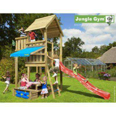 Jungle Gym Palace And Picnic Table - Brown