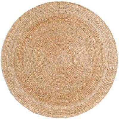 Jute Braided Round Rug - 90cm
