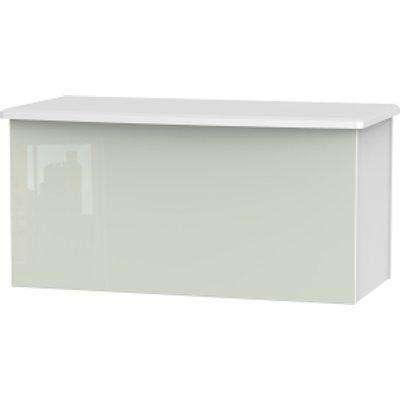 Kensington Kashmir Blanket Box - White