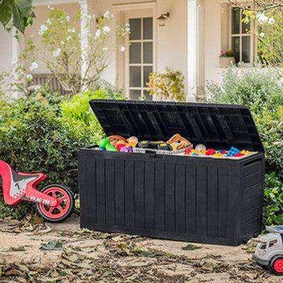 Keter Marvel 270L Garden Storage Box - Graphite Grey