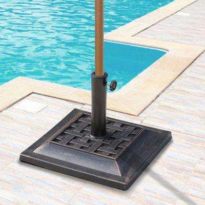 9kg Square Umbrella Stand Base - Bronze