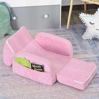 2 In 1 Kids Armchair  - Pink
