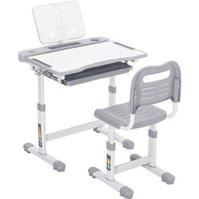 Kids Desk And Chair Set - Grey