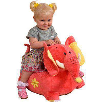 Kids Plush Animal Chair - Pink / Elephant