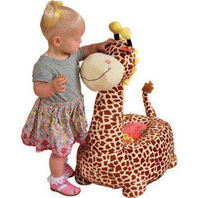 Kids Plush Animal Chair - Brown / Giraffe