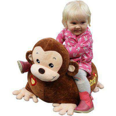 Kids Plush Animal Chair - Brown / Monkey