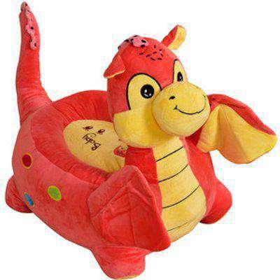 Kids Plush Animal Chair - Pink / Dragon