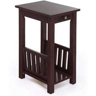 Kilburn End Table With Magazine Rack - Mahogany