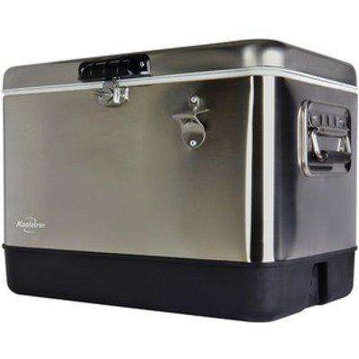 Koolatron Stainless Steel Ice Chest Cooler with Bottle Opener 51L - Silver