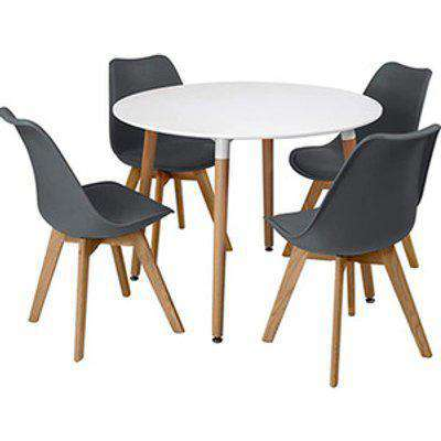 Kosy Koala Round Wooden Dining Table With 4 Chairs