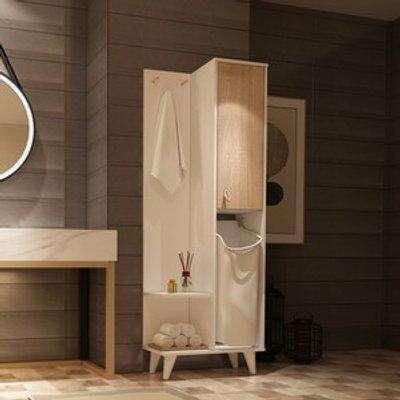 Kuban Bathroom Cabinet - White, Sonomo