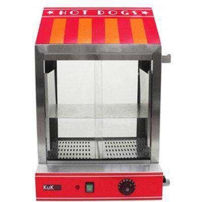 KuKoo Commercial Hot Dog Steamer - Red