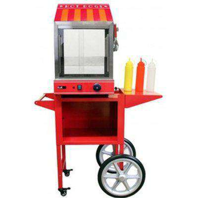 KuKoo Commercial Hot Dog Steamer And Cart - Red