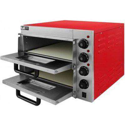KuKoo 16 Twin Deck Electric Pizza Oven - Red