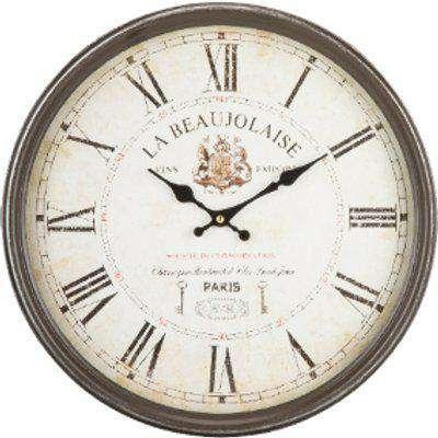 La Beaujolaise Wall Clock - Neutral