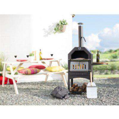 La Hacienda Deluxe Lorenzo Pizza Oven Bundle - Black