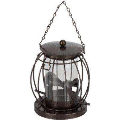 Lantern Shaped Bird Seed Feeder - Grey