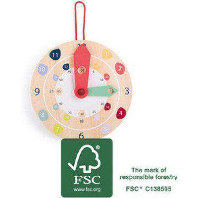 LEGLER Small Foot Childrens Wooden Educate Wall Clock