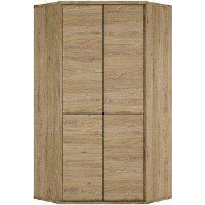 Levenwick Two Door Corner Cupboard - Oak
