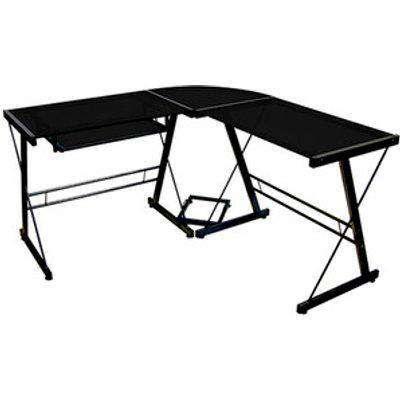 Lexon Corner Desk - Black with Black Top