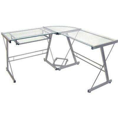 Lexon Corner Desk - Silver