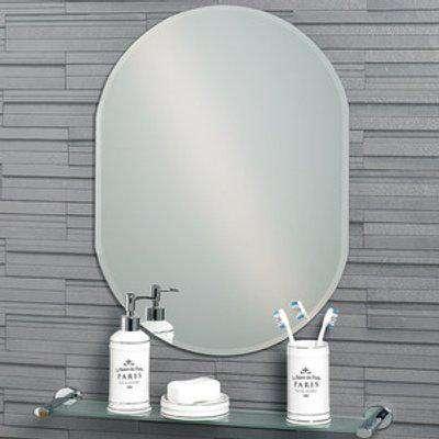 Lincoln Large Oval Frameless Bathroom Mirror - Mirror