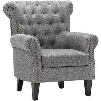 Linen Armchair - Grey