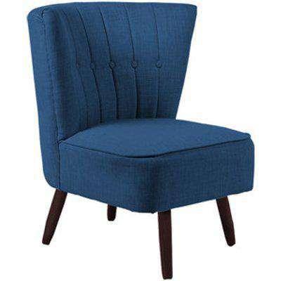 Linen Cocktail Chair - Blue