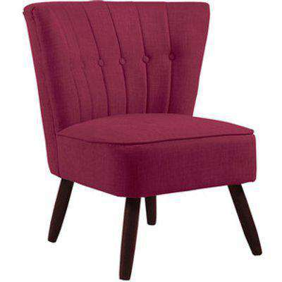 Linen Cocktail Chair - Wine Red